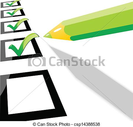 450x431 Green Pencil Checklist Vector Illustration Eps 10 .