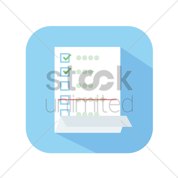 600x600 Icon Of A Checklist Vector Image