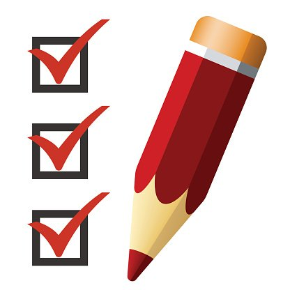 416x416 Pencil Icon With Checklist, Vector Illustration Premium Clipart