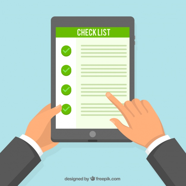 626x626 Tablet Background With Checklist Vector Free Download