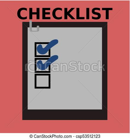 439x470 Business Checklist Vector Illustration With Beautiful Check Signs.