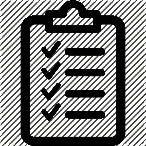512x512 Checklist Vector Icon Black Illustration Isolated On White And