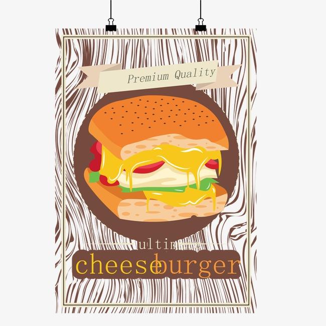 650x650 Cheeseburger Vector Material Cards, Cheese, Hamburger, Food Png