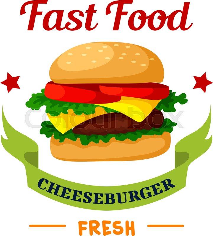 721x800 Cheeseburger Icon. Fast Food Burger Emblem. Hamburger With Meat