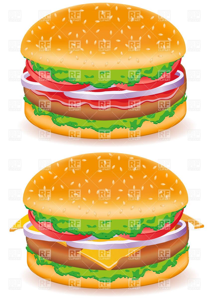 840x1200 Hamburger And Cheeseburger Vector Image Vector Artwork Of Food