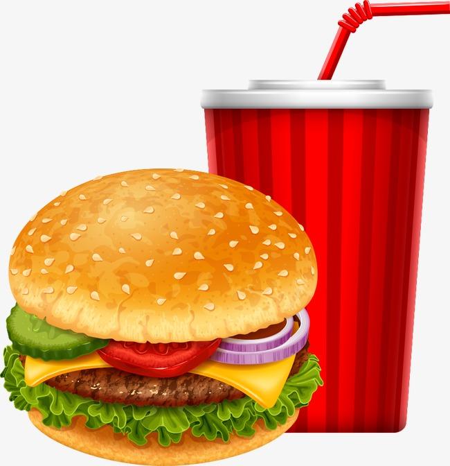 650x672 Vector Cheeseburger With Cola, Hamburger, Coke, Cartoon Coke Png