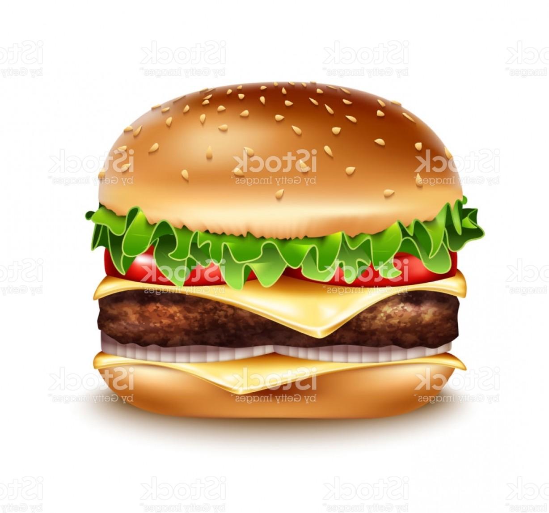 1228x1147 Vector Realistic Hamburger Icon Classic Burger American