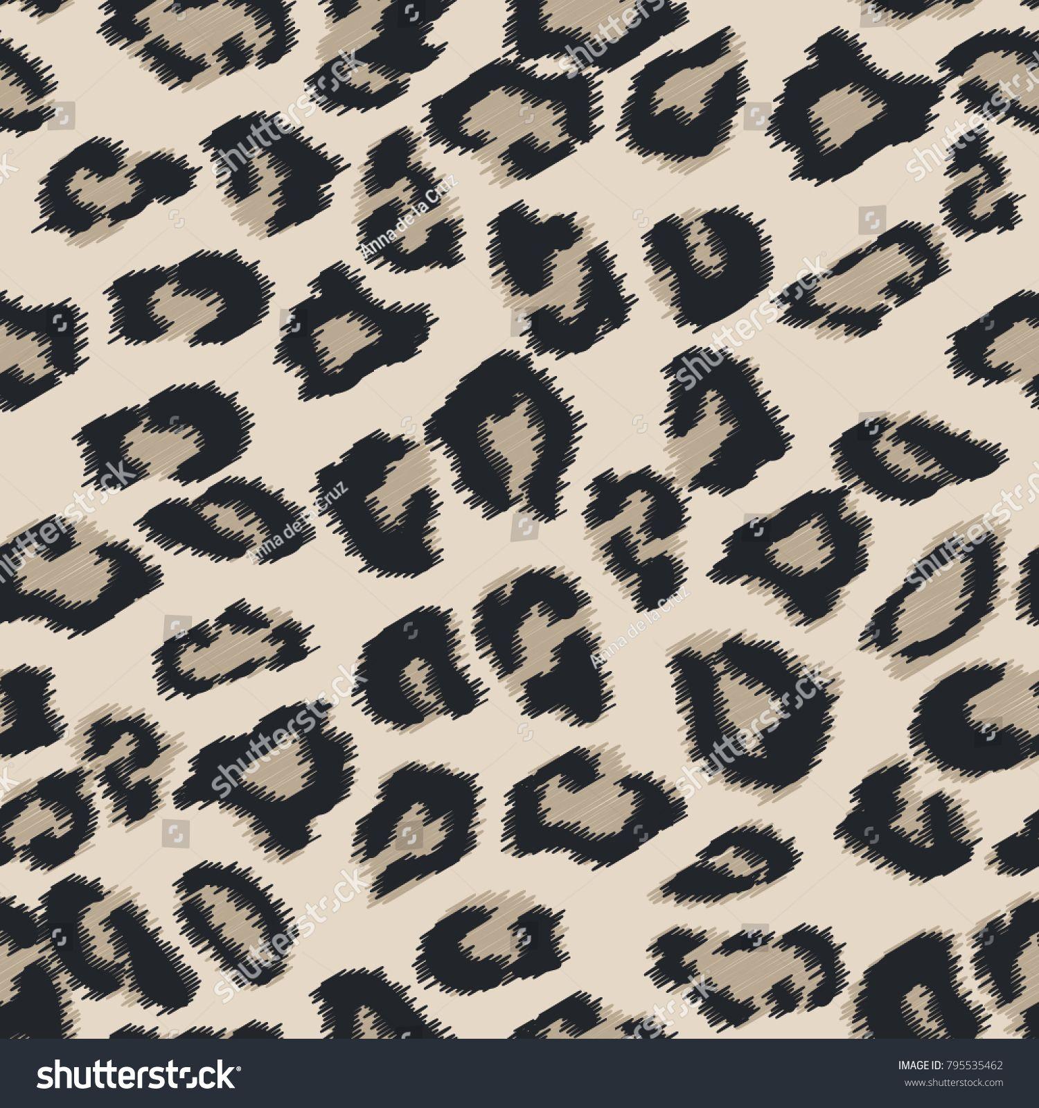1500x1600 Seamless Leather Texture. Cheetah Fur Texture. Snow Leopard