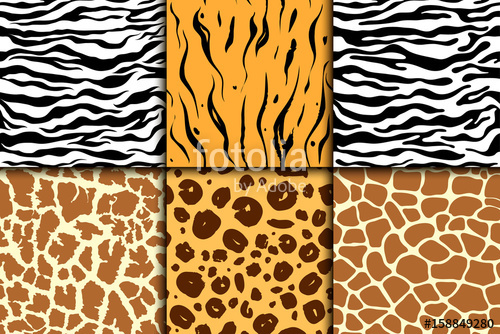 500x334 Seamless Pattern With Cheetah Skin. Vector Background. Colorful