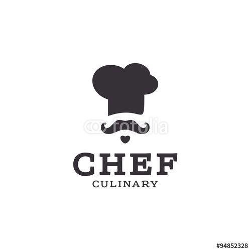 500x500 Vecteur Chef Cook Logo Icon Toque, Chefs Hat Vector Trend Flat