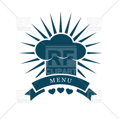 400x400 Chef Cap Menu Logo Vector Image Vector Artwork Of Icons And