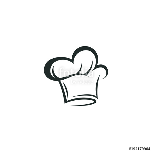 500x500 Chef Hat Logo Vector Abstract Template Download Stock Image And