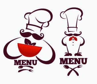 340x294 Creative Chef Menu Logos Vector Set 03 Free Download