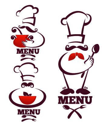 340x416 Creative Chef Menu Logos Vector Set 04 Free Download