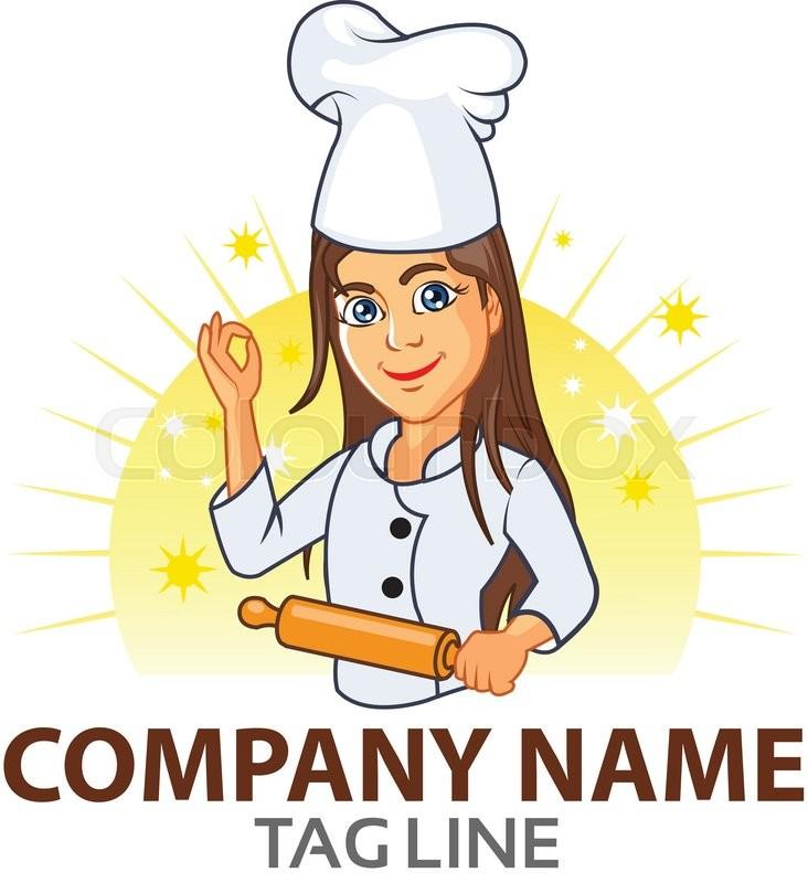 732x800 Vector Design Of Teenager Chef Logo Stock Vector Colourbox