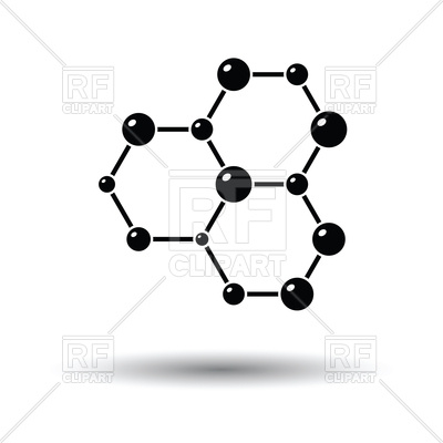 400x400 Icon Of Chemistry Hexa Connection Of Atoms Vector Image Vector