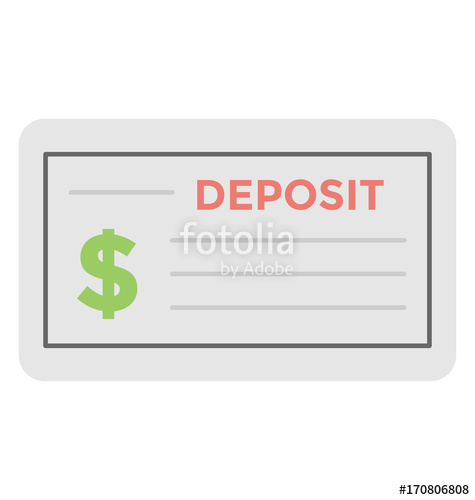 475x500 Cheque Vector Icon Stock Image And Royalty Free Vector Files On