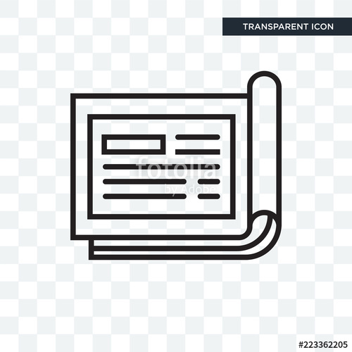 500x500 Cheque Vector Icon Isolated On Transparent Background, Cheque Logo