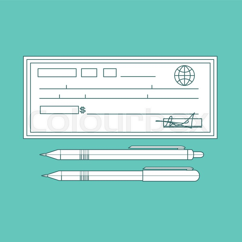 800x800 Cheque Vector Illustration. Cheque Icon In Flat Style. Cheque Book