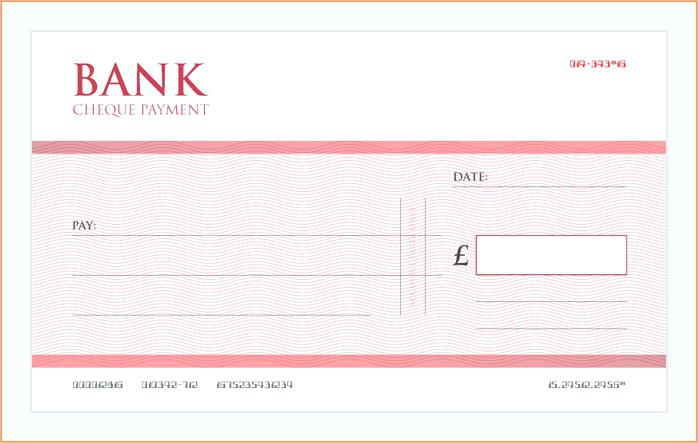 698x443 Presentation Cheque Template Large Blank Free Download Vector