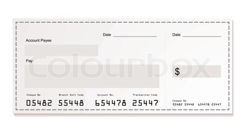 800x433 Simple Illustration Of Dollar White Cheque With Space For Your Own