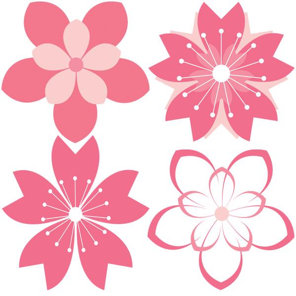 Cherry Blossom Petals Vector