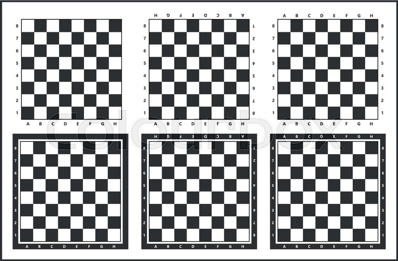 800x525 Chess Table, Chess Board Vector Set, Black And White Stock