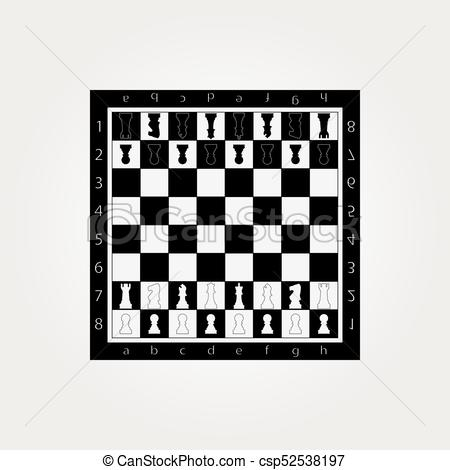 450x470 Chess Table Online Game App Concept, Strategy Game Vector.