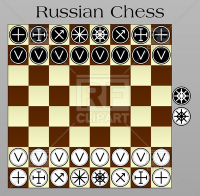 400x392 Russian Chess Layout On The Chessboard Vector Image Vector