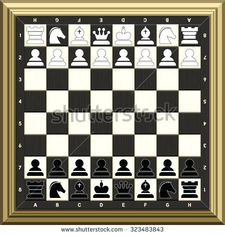 450x470 Set Up Chess Board Vector Illustration Of Chess Board And All