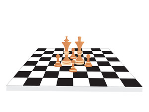 300x225 Vector Chess Board And Figures Royalty Free Stock Image