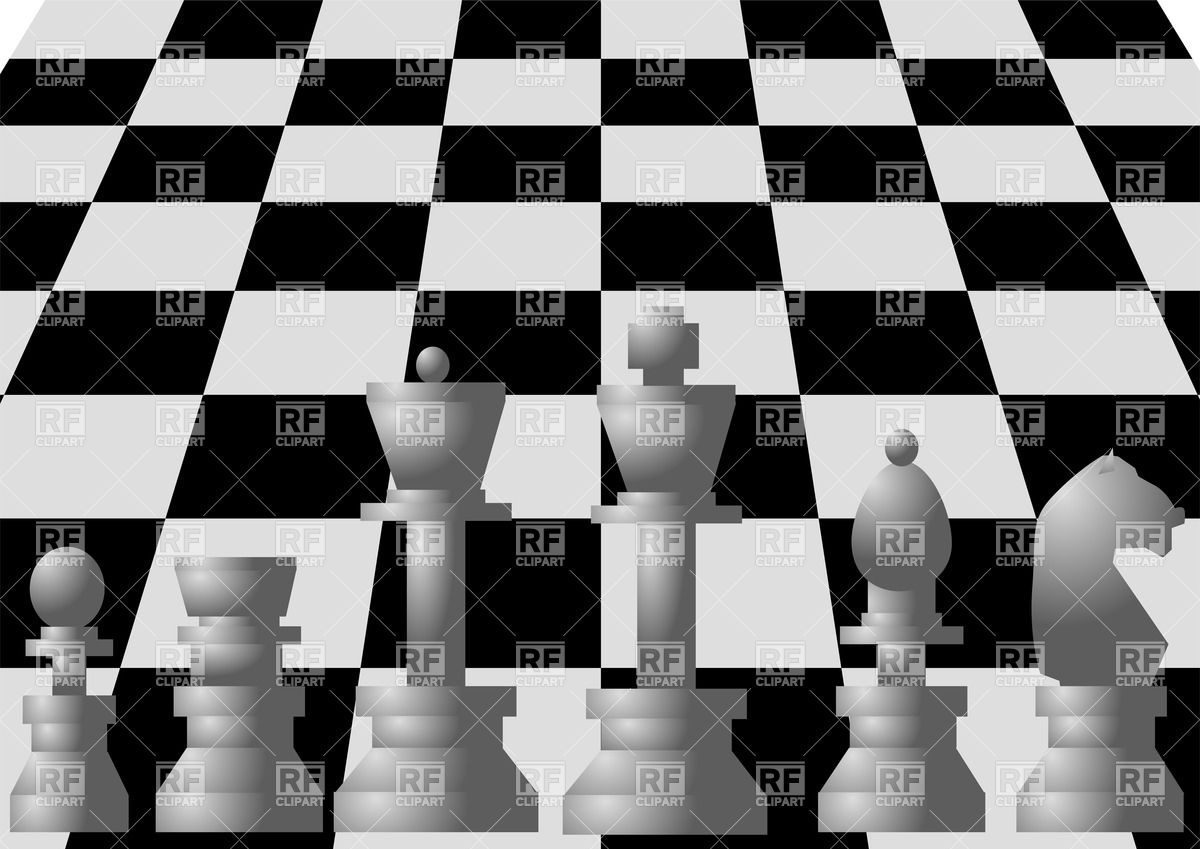 1200x849 White Chess On Chess Board Vector Image Vector Artwork Of Sport