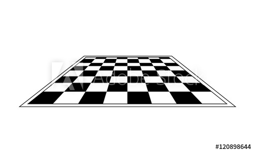 500x300 Black And White Chess Board. Vector