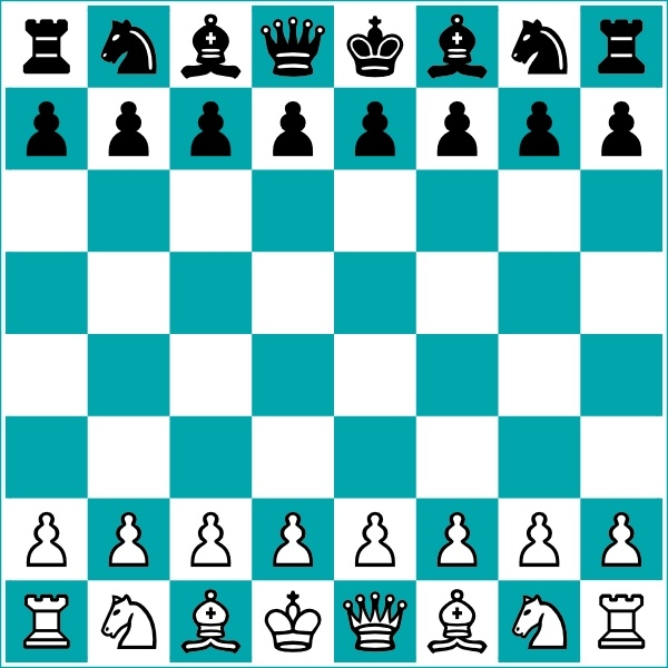 600x600 Chess Board And Pieces Clip Art Free Vector In Open Office Drawing
