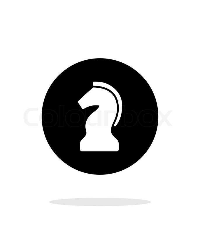 686x800 Chess Knight Simple Icon On White Background. Vector Illustration