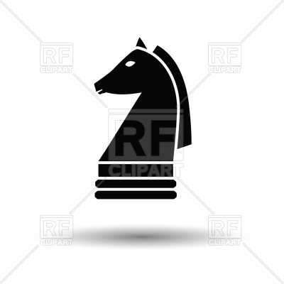 400x400 Chess Knight Black Icon On White Background Vector Image Vector
