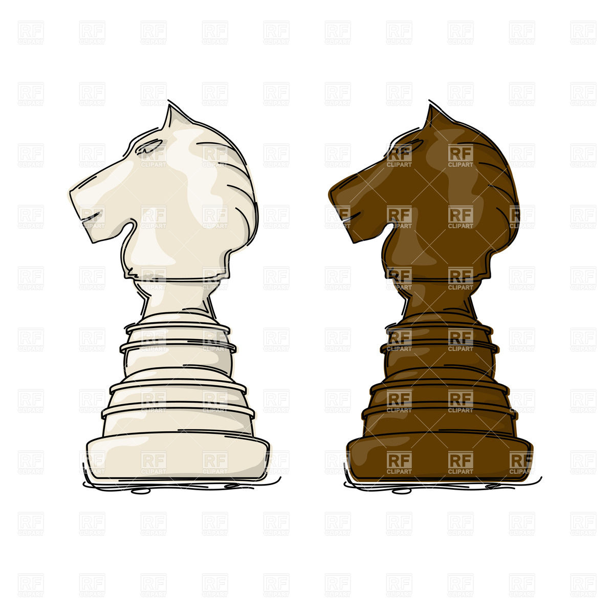 1200x1200 Chess Knight Drawing Vector Image Vector Artwork Of Sport And