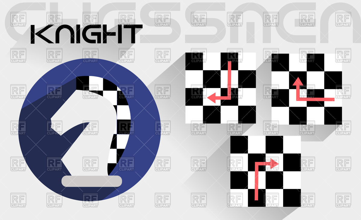 1200x730 Moves Of Chess Knight Vector Image Vector Artwork Of Sport And