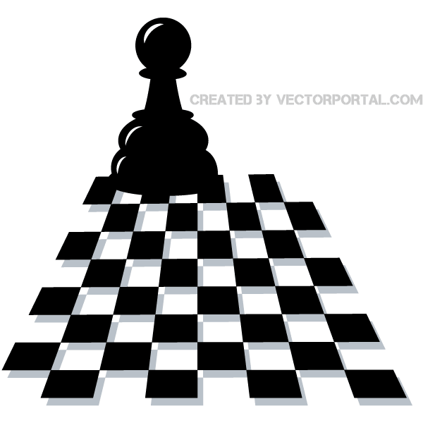 600x600 Chess Pawn Vector Art 123freevectors