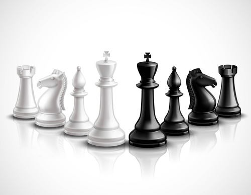 500x388 White With Black Figure Chess Vector 03 Free Download