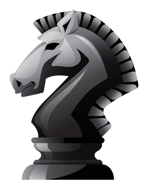 500x638 Horse Chess Vector Material 02 Free Download