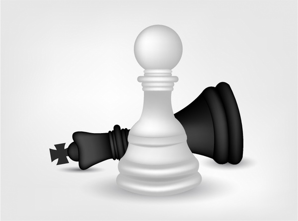 600x445 Chess Pawn And King Free Vector In Adobe Illustrator Ai ( .ai
