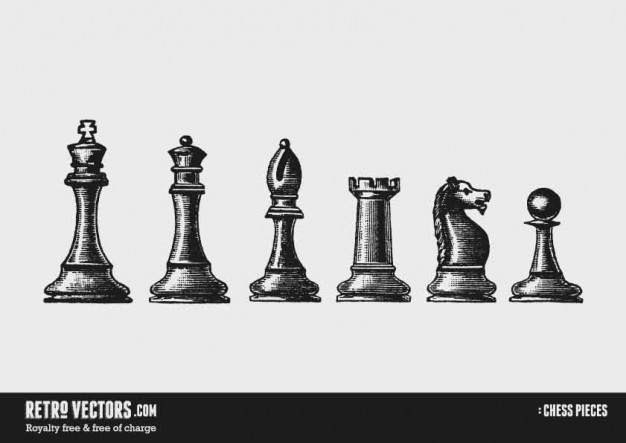 626x443 Chess Pieces Vector Free Download