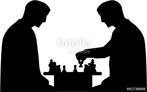 500x315 Chess Player Silhouette Stock Image And Royalty Free Vector Files