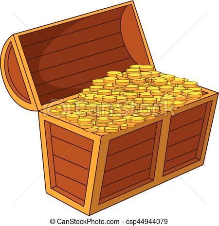 450x465 Pirate Treasure Chest With Golden Coins Icon. Pirate Treasure