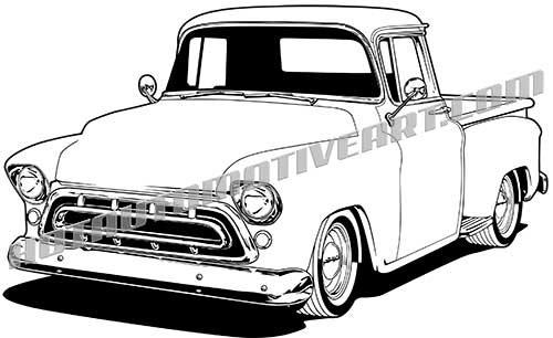 500x306 1957 Chevy Truck, High Quality, Buy Two Images, Get A Third Image Free