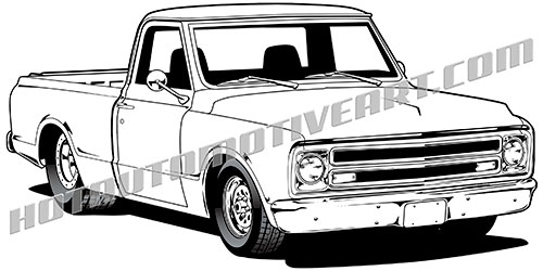 500x250 1967 Chevy Truck High Quality, Buy Two Images, Get A Third Image Free