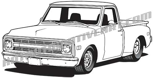 500x254 1969 Chevy Truck High Quality, Buy Two Images, Get A Third Image Free