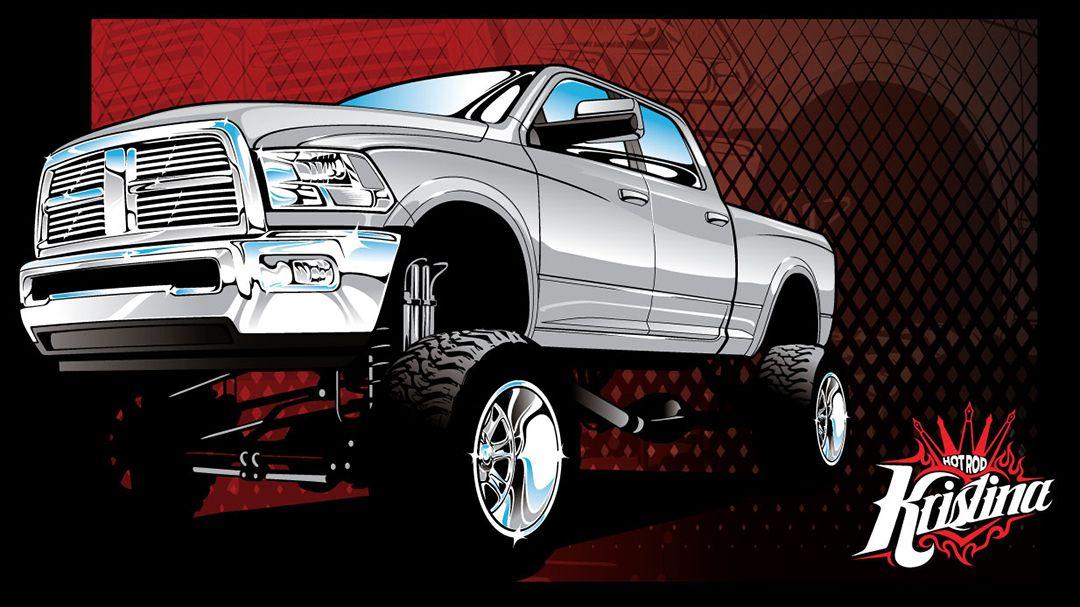 1080x607 Chevy 4x4 Vector Clip Art, Dodge 4x4 Vector Clip Art