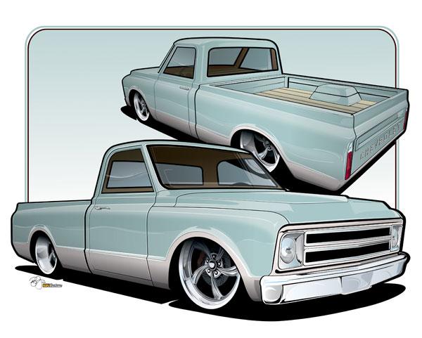 600x481 Drawn Truck C10